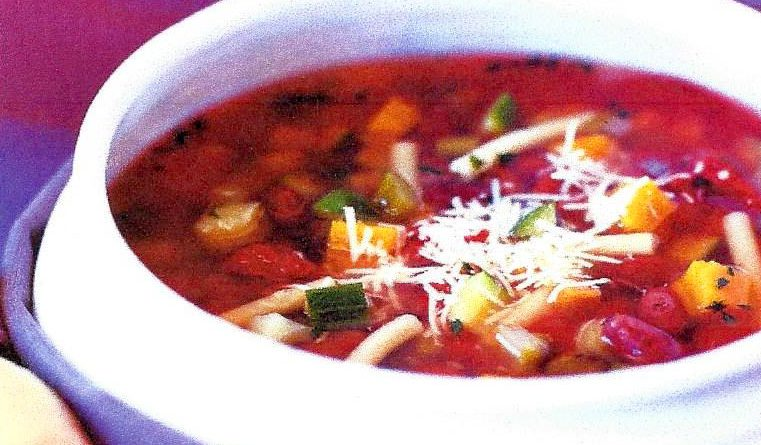 Blueberry Minestrone Soup